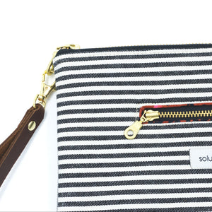 Signature Stripes Clutch