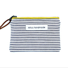 Load image into Gallery viewer, Signature Stripes Small Zipper Pouch