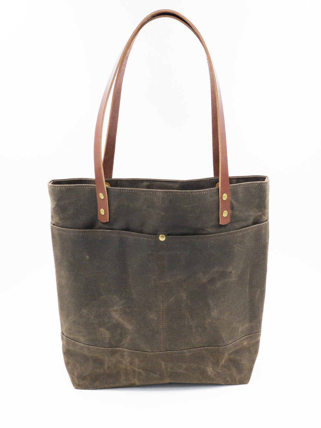 Waxed Canvas Tote - Brown