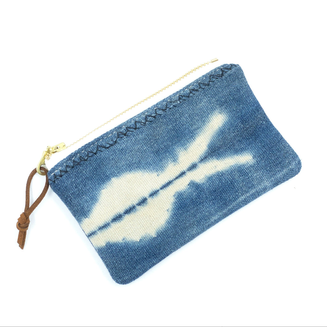 Small vintage mudcloth zipper pouch - 7