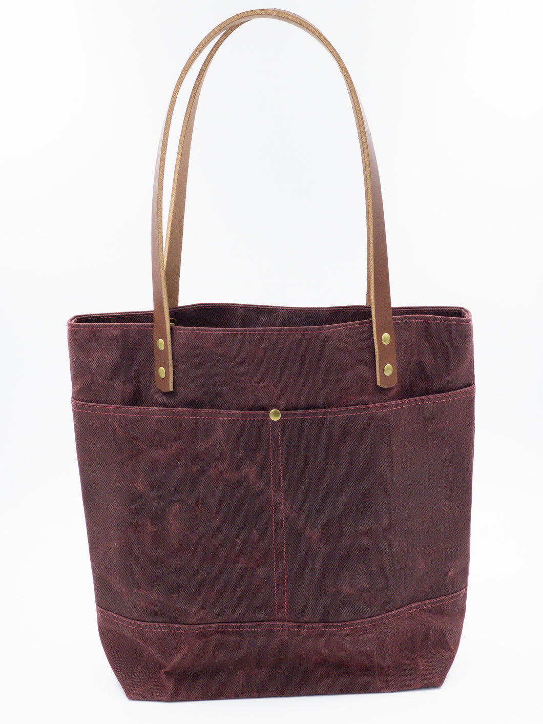 Waxed Canvas Tote - Maroon