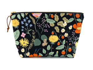 Strawberry fields large zipper pouch