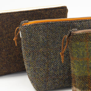 Harris Tweed Large Zipper Pouch