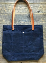Load image into Gallery viewer, Waxed Canvas Tote - Navy