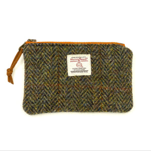 Harris Tweed Small Zipper Pouch