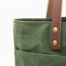 Load image into Gallery viewer, Waxed Canvas Tote - Loden