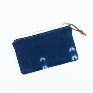 Small vintage mudcloth zipper pouch - 1