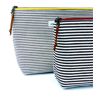 Signature Stripes Large Zipper Pouch