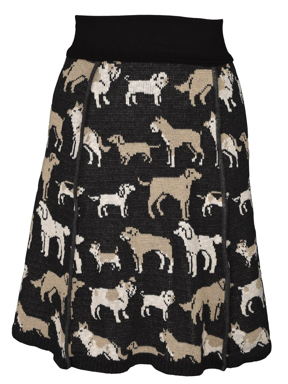 FAIRE GREEN 3 COTTON KNIT PANEL SKIRT DOG