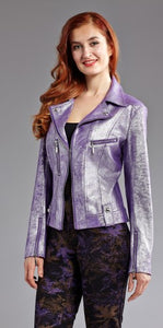 INSIGHT METALLIC PLEATHER MOTO JKT LIQUID PURPLE