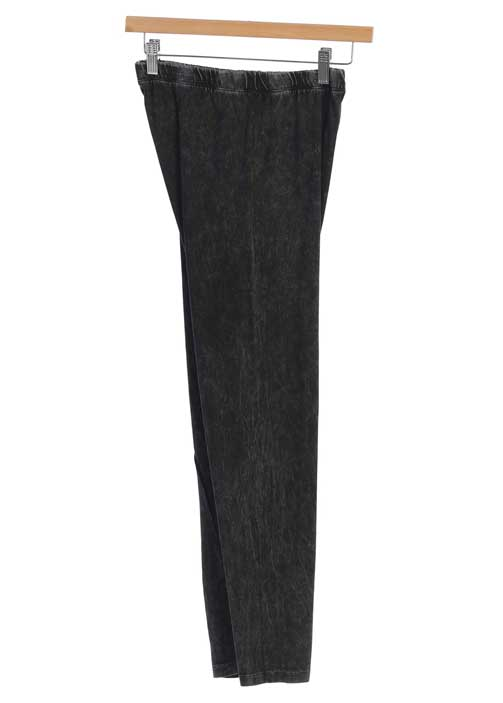 JESS & JANE MINERAL WASH LEGGINGS BLK-L