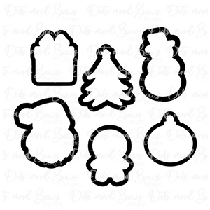 Mini Christmas STL Cutter Set Files