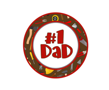 Load image into Gallery viewer, #1 Dad Tools Package Tags - Dots and Bows Designs