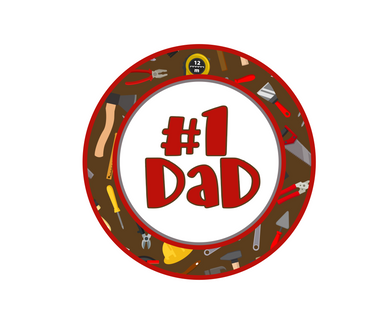#1 Dad Tools Package Tags - Dots and Bows Designs