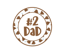 Load image into Gallery viewer, #2 Dad Package Tags - Dots and Bows Designs