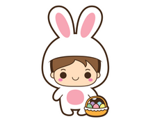 Load image into Gallery viewer, Bunny Boy Cutter - Dots and Bows Designs