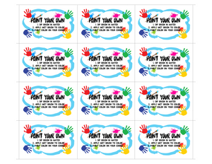 "PYO 3"" Insert Card - Dots and Bows Designs"