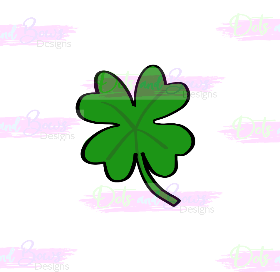 Four Leaf Clover Cutter - Dots and Bows Designs