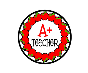 A+ Teacher Package Tags - Dots and Bows Designs