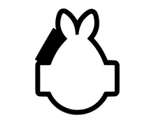 Load image into Gallery viewer, Bunny Egg Plaque Cutter - Dots and Bows Designs