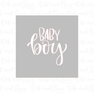 Baby Boy Stencil - Dots and Bows Designs