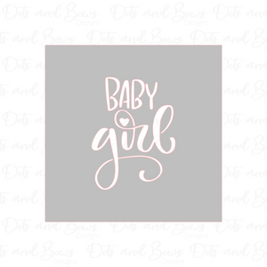 Baby Girl Stencil Digital Download CC - Dots and Bows Designs