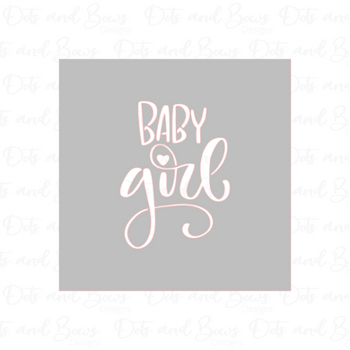 Baby Girl Stencil - Dots and Bows Designs
