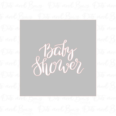Baby Shower Stencil - Dots and Bows Designs