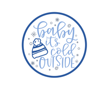 Load image into Gallery viewer, Baby It's Cold Outside Package Tags - Dots and Bows Designs