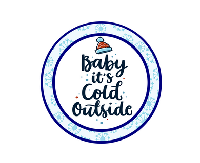 Baby It's Cold w Flakes Package Tags - Dots and Bows Designs