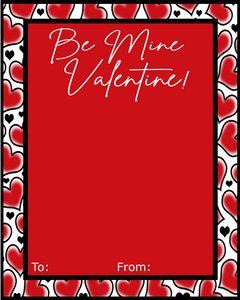 Be Mine Valentine Card w/TF 4x5 - Dots and Bows Designs