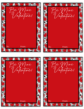 Load image into Gallery viewer, Be Mine Valentine Card w/TF 4x5 - Dots and Bows Designs