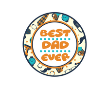Load image into Gallery viewer, Best Dad Ever Tools Package Tags - Dots and Bows Designs