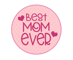 Best Mom Ever Polka Dot Package Tags - Dots and Bows Designs