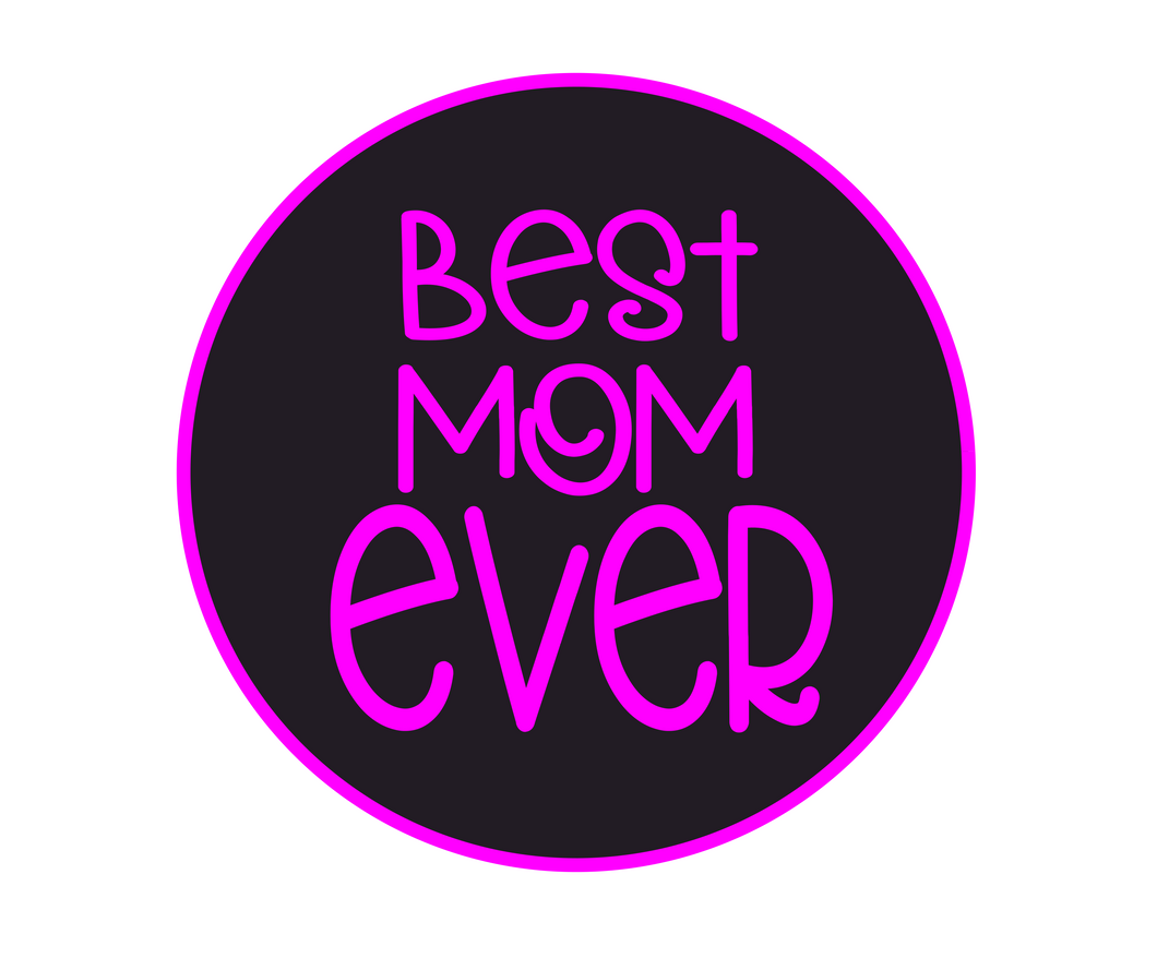 Best Mom Ever Black/Pink Package Tags - Dots and Bows Designs