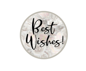 Best Wishes Package Tags - Dots and Bows Designs
