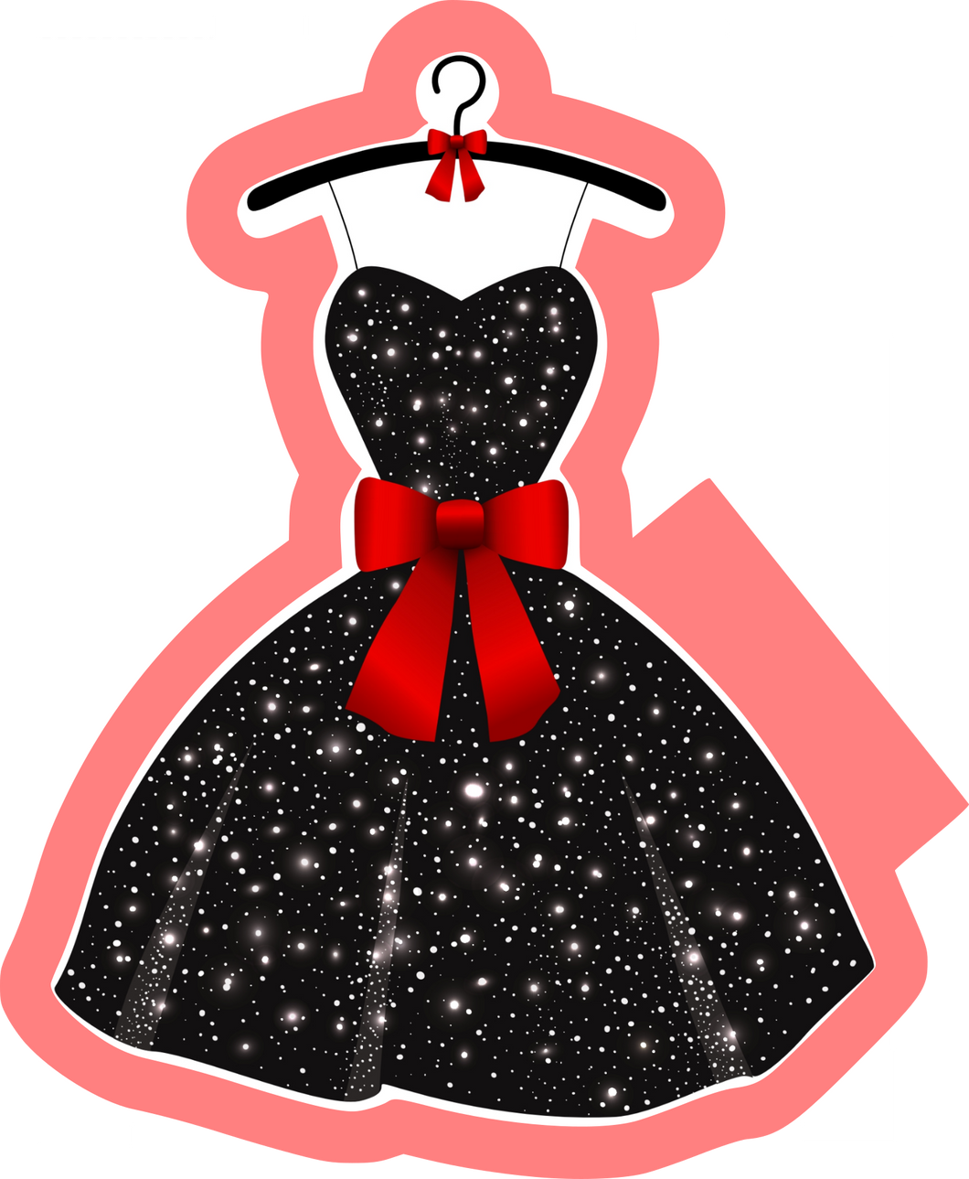 Little Black Dress Cutter - Dots and Bows Designs