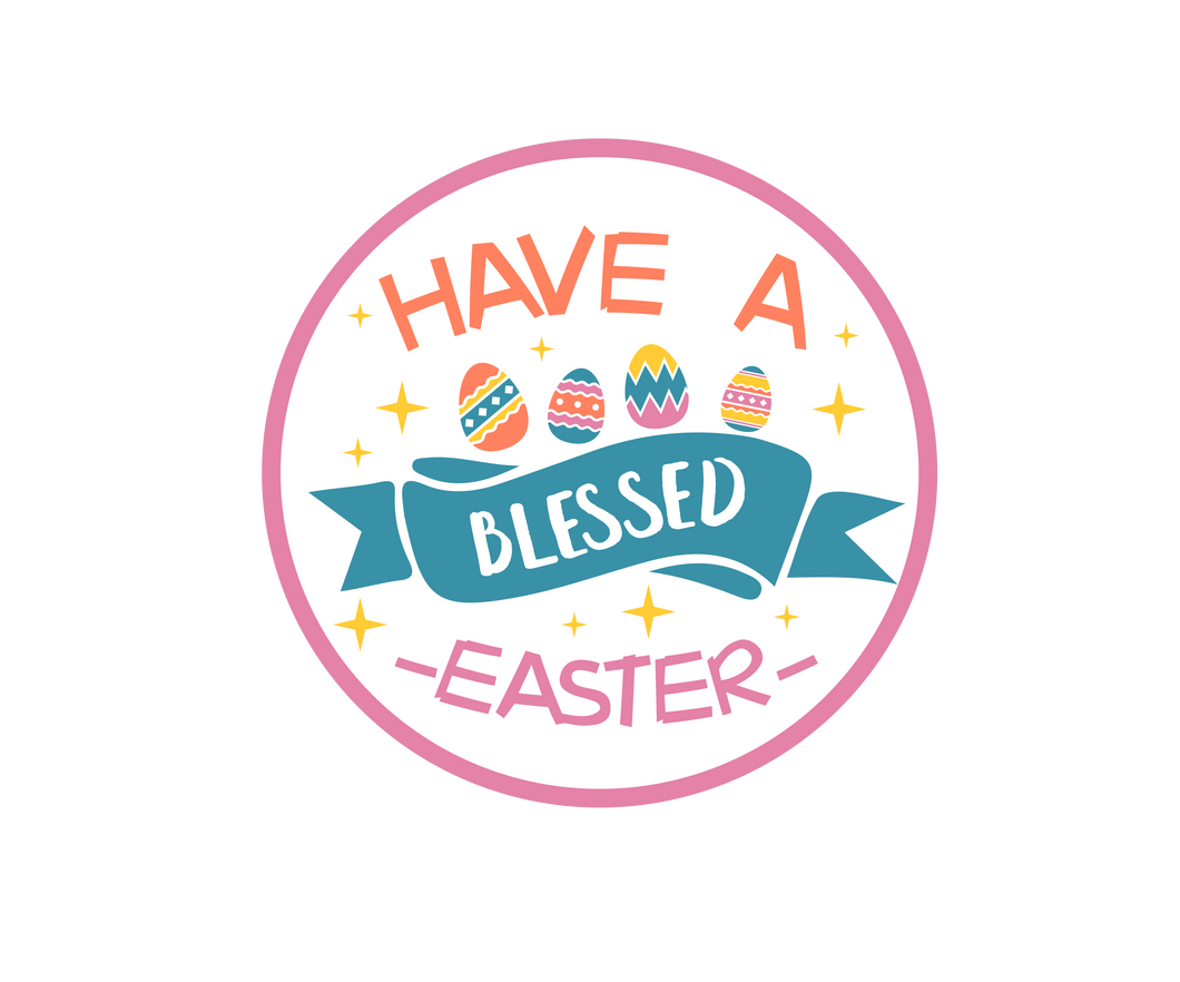 Have A Blessed Easter Package Tags - Dots and Bows Designs