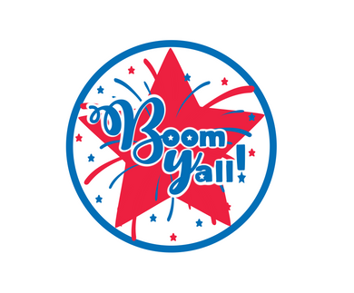 Boom Y'all Package Tags - Dots and Bows Designs