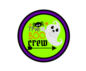 Boo Crew Package Tag - Dots and Bows Designs