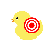 Load image into Gallery viewer, Bullseye Ducky Cutter - Dots and Bows Designs