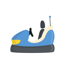 Load image into Gallery viewer, Bumper Car Cutter - Dots and Bows Designs