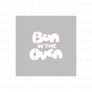 Bun in the Oven Stencil Digital Download CC - Dots and Bows Designs