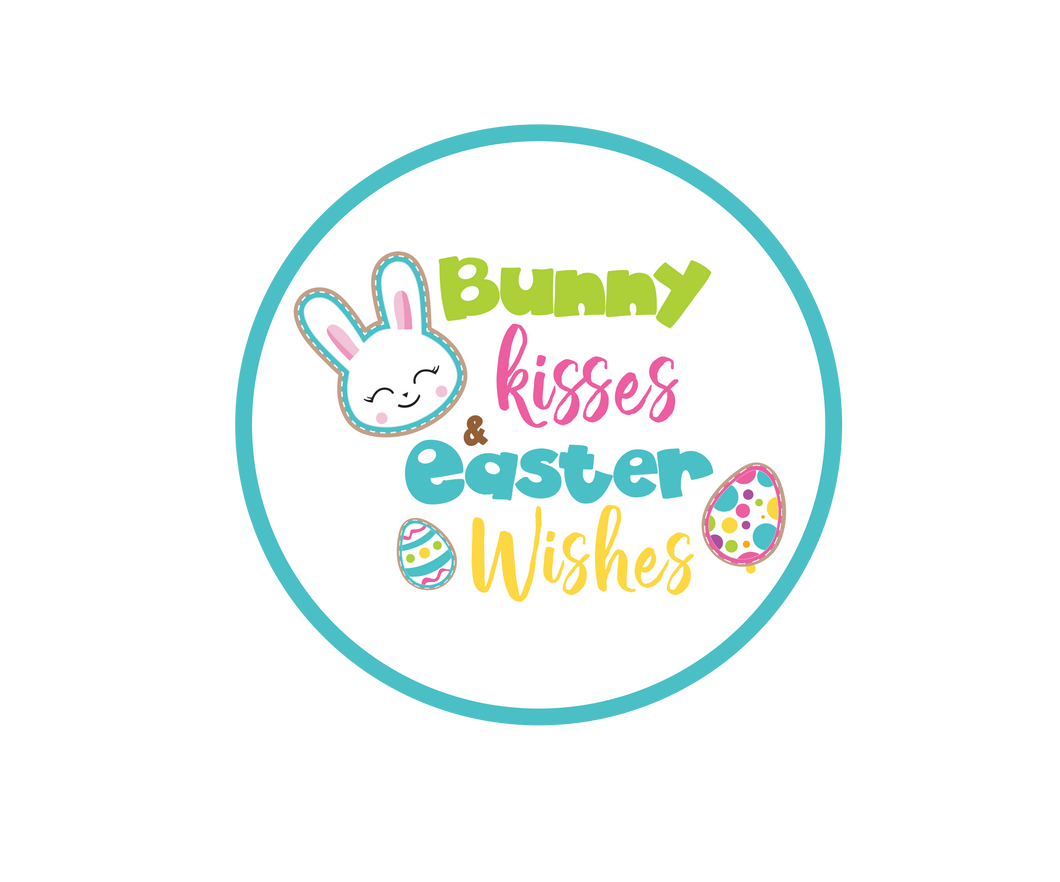 Bunny Kisses Easter Wishes Package Tags - Dots and Bows Designs