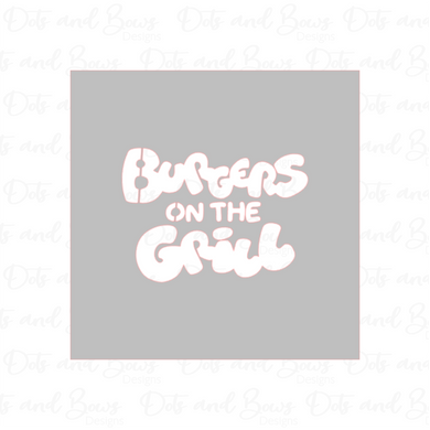 Burgers on the Grill Stencil - Dots and Bows Designs