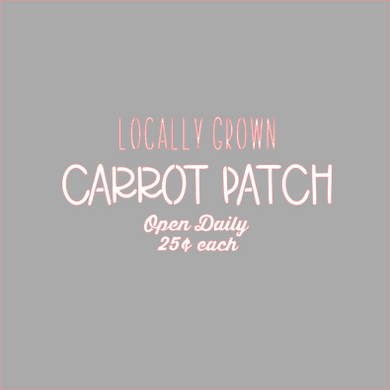 Carrot Patch Stencil Digital Download - Dots and Bows Designs