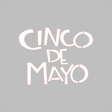 Cinco De Mayo Stencil - Dots and Bows Designs