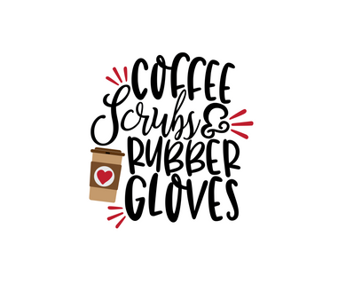 Coffee, Scrubs & Rubber Gloves Cutter - Dots and Bows Designs