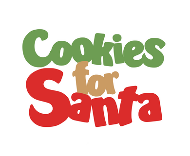 Cookies for Santa 3-piece Stencil - Dots and Bows Designs