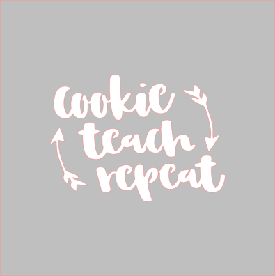 Cookie Teach Repeat Stencil - Dots and Bows Designs